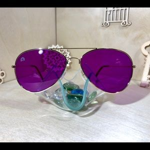 Violet Aviator Sunglasses